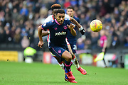 Portsmouth defender Nathan Thompson (20) keeps his eye on the ball during the EFL Sky Bet League 1 match between Milton Keynes Dons and Portsmouth at stadium:mk, Milton Keynes, England on 10 February 2018. Picture by Dennis Goodwin.