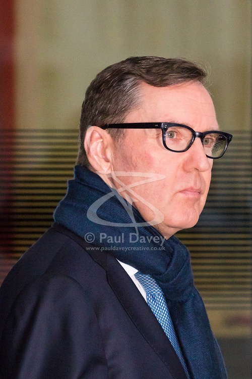 London, December 03 2017. The Labour Party's Alan Milburn attends the Andrew Marr Show at the BBC's New Broadcasting House in London.. © Paul Davey