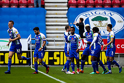 Reece James of Wigan Athletic celebrates with teammates after scoring a goal 1-0 - Mandatory by-line: Robbie Stephenson/JMP - 04/11/2018 - FOOTBALL - DW Stadium - Wigan, England - Wigan Athletic v Leeds United - Sky Bet Championship