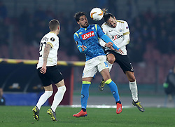 February 21, 2019 - Rome, Italy - SSC Napoli v FC Zurich - UEFA Europa League Round of 32.Simone Verdi of Napoli and Adrian Wnter of Zurich at San Paolo Stadium in Naples, Italy on February 21, 2019. (Credit Image: © Matteo Ciambelli/NurPhoto via ZUMA Press)
