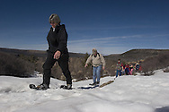 Photo by Barton Glasser.during a snowshoe walk around the Black Canyon of The Gunnison National Park Sunday afternoon.