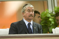 MONACO, FRANCE - Friday, August 24, 2001: Liverpool's chairman David Moores at the Stade Louis II in Monaco. (Pic by David Rawcliffe/Propaganda)