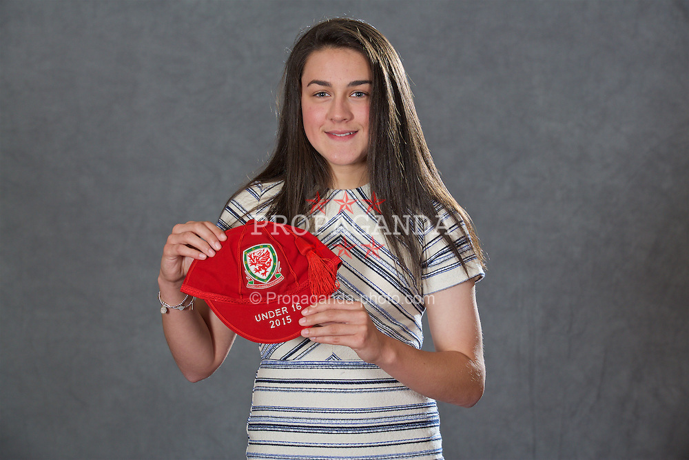 NEWPORT, WALES - Saturday, May 21, 2016: Meesha Dudley-Jones at the Under-16's cap presentation at the Celtic Manor Resort. (Pic by David Rawcliffe/Propaganda)