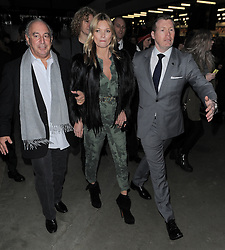 Supermodel Kate Moss and Sir Philip Green attend the Topshop Unique show at London Fashion Week AW14 at Tate Modern in London, UK. 16/02/2014<br />