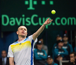 05.04.2014, Aegon Arena, Bratislava, SVK, ITF, Davis Cup, Slowakei vs Oesterreich, 2. Runde, Europa-Afrika-Zone I, im Bild Michal Mertinak (SVK) // Michal Mertinak (SVK) during the 2nd round of Europe Africa zone one of ITF Davis Cup between Slovakia and Austria at the Aegon Arena in Bratislava, Slovakia on 2014/04/05. EXPA Pictures © 2014, PhotoCredit: EXPA/ Michael Gruber