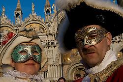 Venice (Italy) 19/02/2007  - Carnival of Venice. The masks.
