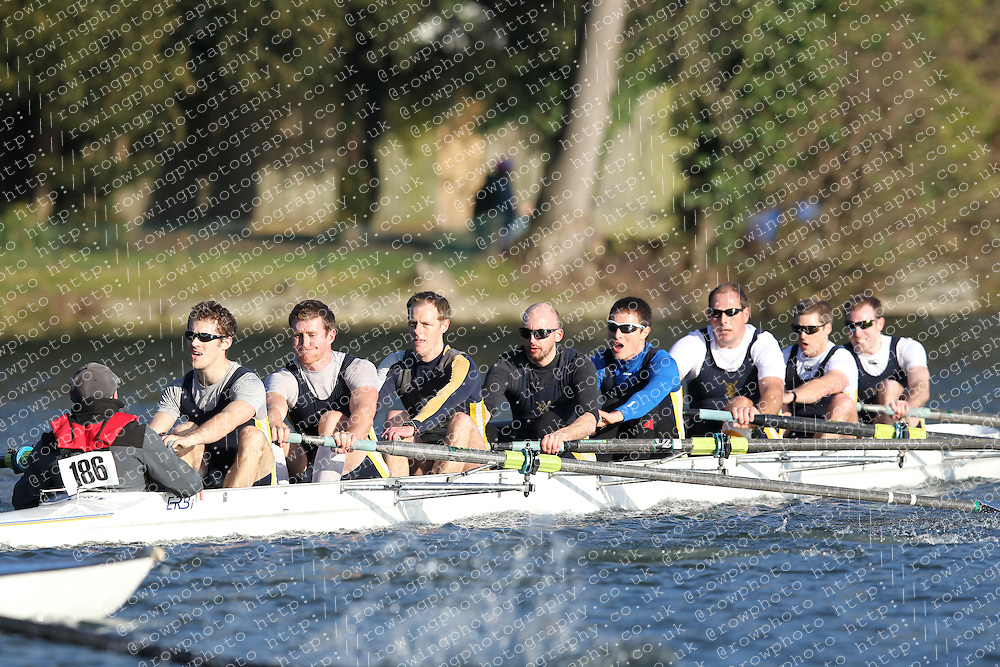 2012.02.25 Reading University Head 2012. The River Thames. Division 2. Eton Excelcior Rowing Club IM2 8+
