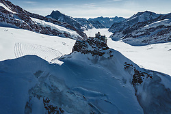 15.01.2020, Jungfrauenjoch, Wengen, SUI, FIS Weltcup Ski Alpin, Vorberichte, im Bild Jungfraujoch mit Sphinx Observatorium im Hintergrund der Aletschgletscher // Jungfraujoch with Sphinx Observatory in the background the Aletsch Glacier during a preliminary reports prior to the FIS ski alpine world cup at the Jungfrauenjoch in Wengen, Switzerland on 2020/01/15. EXPA Pictures © 2020, PhotoCredit: EXPA/ Johann Groder **** ACHTUNG - dieses Bilddatei ist für den Grossformatdruck in einer maximalen Grösse mit mehr als 18142 x 6717 pixel (ca. 700 MB) verfügbar! Fragen Sie nach den hochauflösenden Daten // ATTENTION - This image file is for Large Format Printing available in a maximum size of more then 18142 x 6717 pixels (about 700 MB)! Ask for the high-resolution data. ****