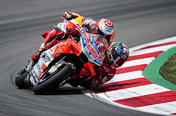 June 17, 2018 - Barcelona, Catalonia, Spain - The Spanish riders, Jorge Lorenzo of Ducati Team and Marc Marquez of Repsol Honda Team, in action during the Catalunya Motorcycle Grand Prix at Circuit de Catalunya on June 17, 2018 in Barcelona, Spain. (Credit Image: © Joan Cros/NurPhoto via ZUMA Press)