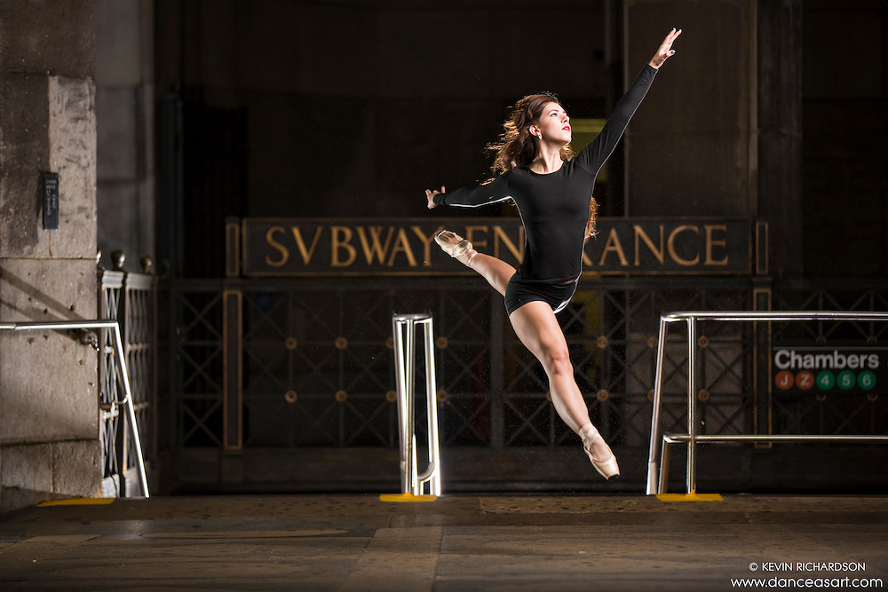 New York City Subway Dance As Art Photography Project featuring ballerina, Lindsey Horrigan