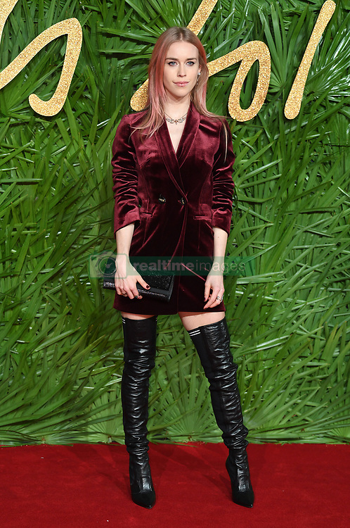 Mary Charteris attending the Fashion Awards 2017, in partnership with Swarovski, held at the Royal Albert Hall, London. Picture Credit Should Read: Doug Peters/ EMPICS Entertainment