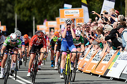 Chiara Consonni (ITA) wins sprint ahead of Lorena Wiebes (NED) and Lucinda Brand (NED) at Boels Ladies Tour 2019 - Stage 5, a 154.8 km road race from Nijmegen to Arnhem, Netherlands on September 8, 2019. Photo by Sean Robinson/velofocus.com