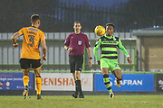 Forest Green Rovers Tahvon Campbell(25) on the ball during the EFL Sky Bet League 2 match between Forest Green Rovers and Cambridge United at the New Lawn, Forest Green, United Kingdom on 20 January 2018. Photo by Shane Healey.