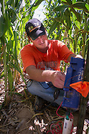 Water Conservation research conducted by Jason Warren of Oklahoma State University. Study involves use of subsurface drip irrigation systems installed at the Panhandle research station in Goodwell Oklahoma.