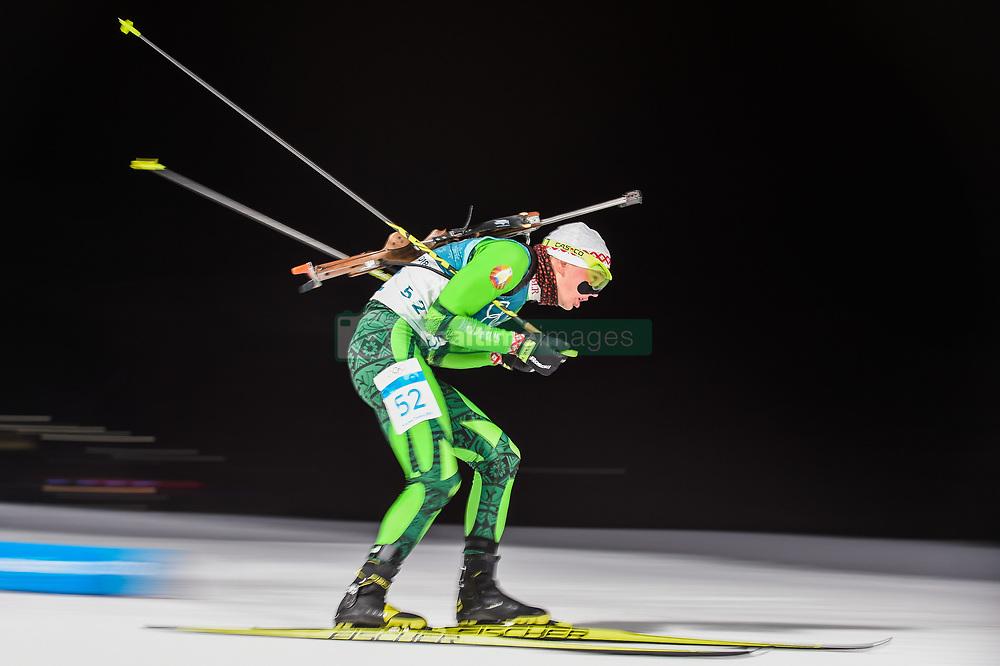 February 11, 2018 - Pyeongchang, Gangwon, South Korea - Raman Yaliotnau ofBelarus at Mens 10 kilometre sprint Biathlon at olympics at Alpensia biathlon stadium, Pyeongchang, South Korea on February 11, 2018. (Credit Image: © Ulrik Pedersen/NurPhoto via ZUMA Press)