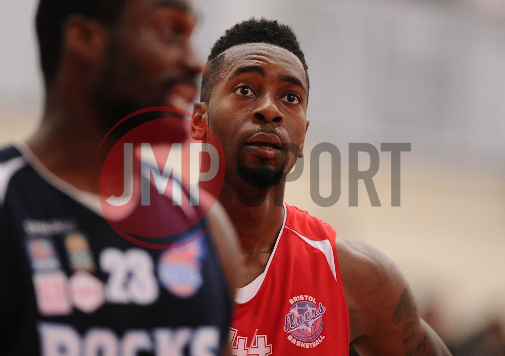 Bristol Flyers' Alif Bland  - Photo mandatory by-line: Joe Meredith/JMP - Mobile: 07966 386802 - 11/04/2015 - SPORT - Basketball - Bristol - SGS Wise Campus - Bristol Flyers v Glasgow Rocks - British Basketball League