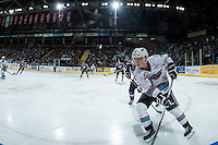 KELOWNA, CANADA - JANUARY 9: Kole Lind #16 of Kelowna Rockets skates against the Tri City Americans on January 9, 2016 at Prospera Place in Kelowna, British Columbia, Canada.  (Photo by Marissa Baecker/Shoot the Breeze)  *** Local Caption *** Kole Lind;