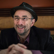"Actor Richard Schiff, famous for his role as ""Toby"" on the West Wing, during an interview at District Chop House and Brewery in Washington, DC, March 1, 2013."