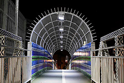 UK ENGLAND LONDON 12MAY10 - Nighttime illumination by LED lighting on Acklam Bridge near Westbourne Park, West London. LED and other energy-saving lighting methods are increasingly applied across London to reduce the city's carbon footprint and contribute to climate-friendlier use of energy...jre/Photo by Jiri Rezac / The Climate Group..© Jiri Rezac 2010