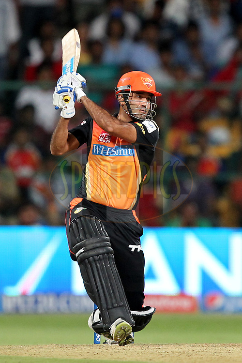 Irfan Pathan of the Sunrisers Hyderabad during match 24 of the Pepsi Indian Premier League Season 2014 between the Royal Challengers Bangalore and the Sunrisers Hyderabad held at the M. Chinnaswamy Stadium, Bangalore, India on the 4th May  2014Photo by Prashant Bhoot / IPL / SPORTZPICSImage use subject to terms and conditions which can be found here:  http://sportzpics.photoshelter.com/gallery/Pepsi-IPL-Image-terms-and-conditions/G00004VW1IVJ.gB0/C0000TScjhBM6ikg