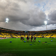 Before the super rugby union  game between Hurricanes  and Highlanders, played at Westpac Stadium, Wellington, New Zealand on 24 March 2018.  Hurricanes won 29-12.