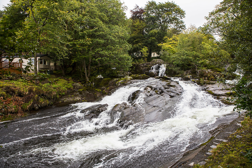 The River Ogwen , just outside of Bethesda, Bangor, Wales. A potential site for Ynni Ogwen Cyf to produce community owned electricity from a sustainable hydroelectric power source.