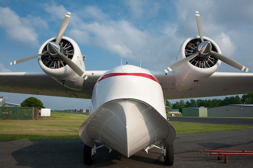 Grumman Goose plane in airport