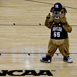Mar 24, 2011; New Orleans, LA; The Butler Bulldogs mascot on the court during the second half of the semifinals of the southeast regional of the 2011 NCAA men's basketball tournament against the Wisconsin Badgers at New Orleans Arena. Butler defeated Wisconsin 61-54.  Mandatory Credit: Derick E. Hingle