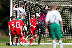 WREXHAM, WALES - Thursday, August 15, 2019: Wales' goalkeeper Kane Draperduring the UEFA Under-15's Development Tournament match between Wales and Northern Ireland at Colliers Park. (Pic by Paul Greenwood/Propaganda)