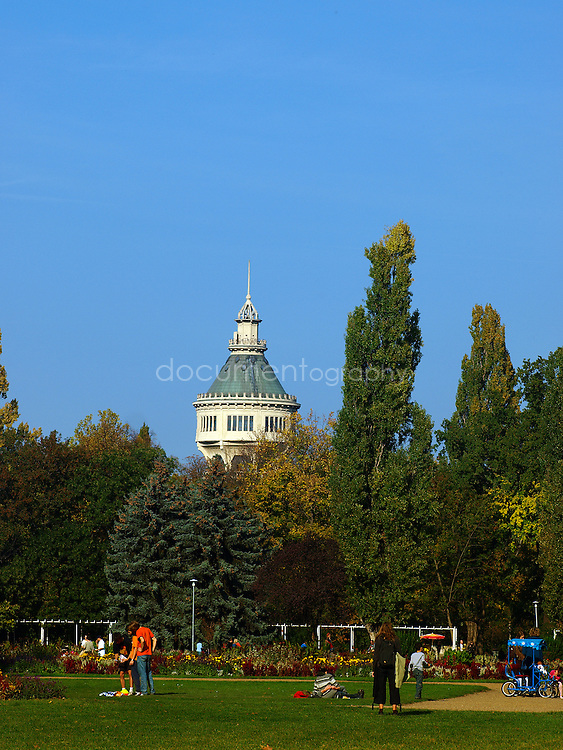 The Water Tower in Margaret Island Park, Budapest, Hungary.