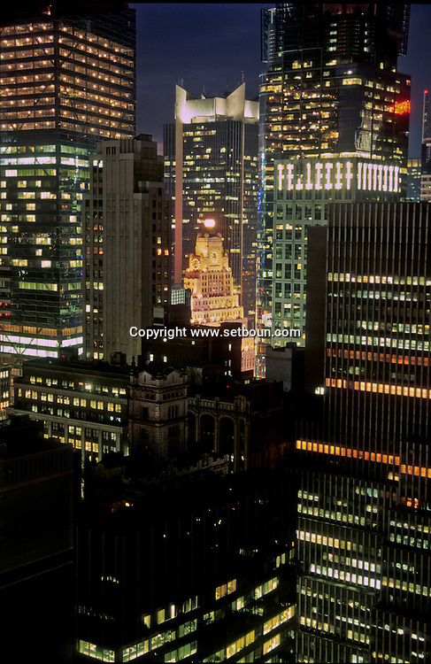 New York elevated view of Times square. the new buildings os /  les nouveaux buildings , le nouveau Times square