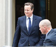 2016-06-27 Prime Minister Cameron leaves Downing Street to address Parliament following Brexit