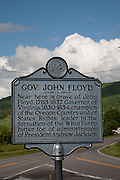 Governor John Floyd Monument and House on Route 311. Rowan Memorial Home, Sweet Springs, West Virginia May 2011