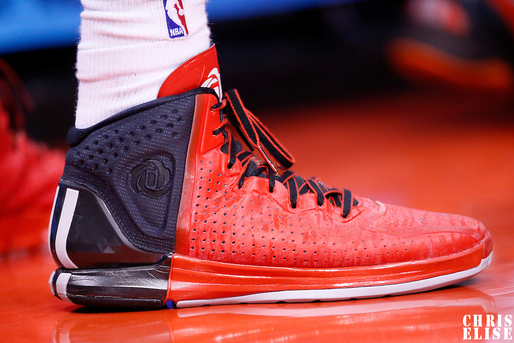 06 January 2014: Close view of Los Angeles Clippers small forward Matt Barnes (22) shoes during the Los Angeles Clippers 101-81 victory over the Orlando Magic at the Staples Center, Los Angeles, California, USA.