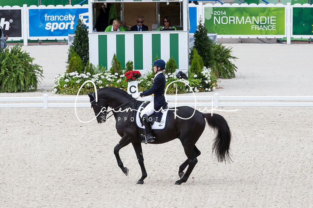 Terhi Stegars, (FIN), Axis TSF - Grand Prix Team Competition Dressage - Alltech FEI World Equestrian Games™ 2014 - Normandy, France.<br /> © Hippo Foto Team - Leanjo de Koster<br /> 25/06/14
