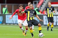 (L-R) Joris van Overeem of AZ Alkmaar, Sean Klaiber of FC Utrecht