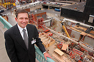 Robert (Bob) Lux, CFO at Temple University Health.System, speaks about the new ambulatory care building under construction in the background June 10, 2004 in Philadelphia, Pennsylvania. For a BIZ story on how Temple University Health System is one of the hospitals, which after years of spending vey little on capital improvements, now feel financially positioned to do so ,.but of course only in certain areas - those that will likely be the most lucrative and keep them competitive. (Photo by William Thomas Cain/For The Times)