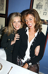 Left to right, KIM HERSOV and HEATHER KERZNER at the launch of MAC's High Tea collection with leading British designers held at The Berkeley Hotel, London on 17th January 2005.  MAC has collabroated with The Berkeley's Pret-a-Portea, which adds a creative twist to th classic elements of the English afternoon tea with cakes and pastries inspired by fashion designs.<br /><br />NON EXCLUSIVE - WORLD RIGHTS