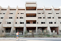 SCIACCA, ITALY - 31 JULY 2012: An ufinished nursing home in Sciacca, Italy, on July 31, 2012. Series of photographs of unfinished developments in southern Italy.<br /> <br /> CREDIT: Gianni Cipriano for The Wall Street Journal