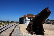 Train station in Batabano, Mayabeque, Cuba.