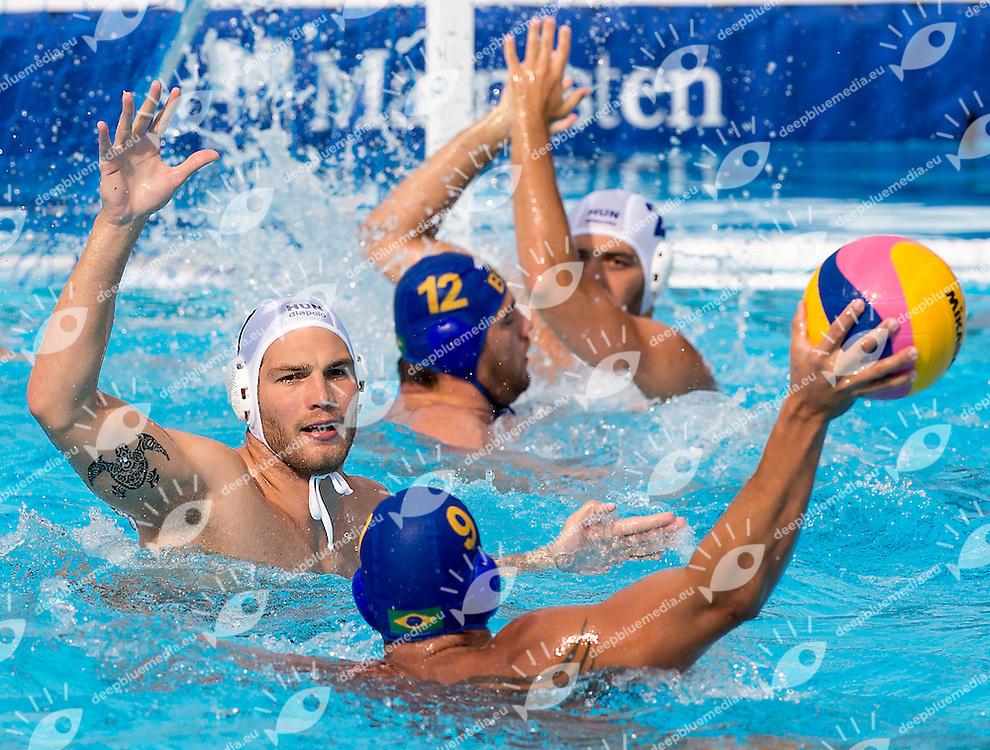 9 ROCHA Bernardo BRA<br /> Hungary HUN (white) - Brazil BRA  (blue)<br /> day 03 - 25/06/2015<br /> FINA Water Polo World League Superfinal Men<br /> Bergamo (ITA) 23-28 June 2015<br /> Photo G.Scala/Deepbluemedia