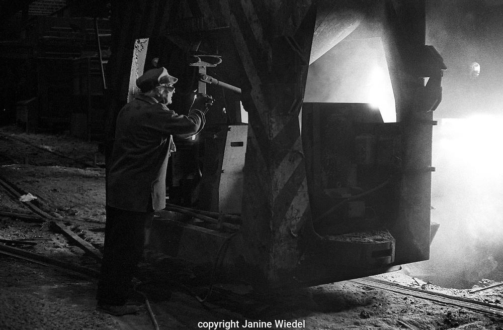 Bilston Steelworks Open Hearth furnace  in the Black Country West Midlands in the 1978