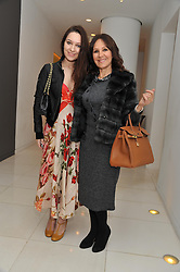 ARLENE PHILLIPS and her daughter ABIGAIL at the pre party for the English National Ballet's Christmas performance of The Nutcracker held at the St.Martin's Lane Hotel, St.Martin's Lane, London on 14th December 2011.