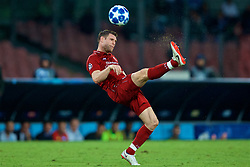 NAPLES, ITALY - Wednesday, October 3, 2018: Liverpool's captain James Milner during the UEFA Champions League Group C match between S.S.C. Napoli and Liverpool FC at Stadio San Paolo. (Pic by David Rawcliffe/Propaganda)