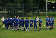 06-08-2008 Voetbal:Maikel Aerts:Bad-Schandau:Duitsland<br /> Willem II is in Oost Duitsland in Bad-Schandau voor een trainingskamp.<br /> Andries Jonker in Sebnitz tijdens de training<br /> <br /> foto: Geert van Erven