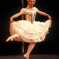 USA, Washington, Seattle, Lisa Tobiason dances the lead role of Swanilda in Pacific Northwest Ballet performance of Coppélia