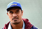 Jerome Kaino during the Blues pre season rugby match against the Hurricanes at Albany Stadium. Auckland, New Zealand. Friday 6 February 2015. Copyright Photo: Andrew Cornaga /www.Photosport.co.nz