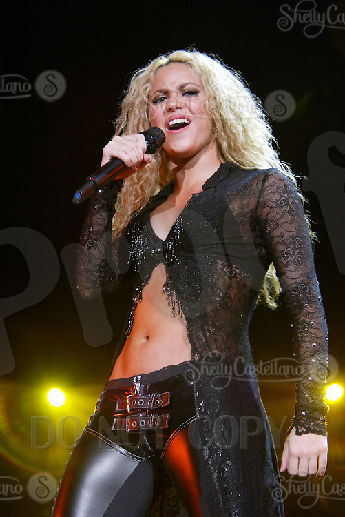 25 January 2003:  Shakira performs live on stage at the Mandalay Bay events center in Las Vegas. Tour of the Mongoose (also known as El Tour de la Mangosta in hispanophone countries) is the third concert tour by Colombian singer-songwriter, Shakira, in support of her first English album, Laundry Service. It is also noted as the singer's first global tour, reaching North America, South America, Asia and Europe.
