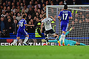 Tottenham Hotspur Forward Harry Kane (10) scores during the Barclays Premier League match between Chelsea and Tottenham Hotspur at Stamford Bridge, London, England on 2 May 2016. Photo by Jon Bromley.