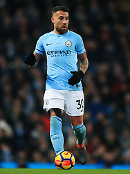 Nicolas Otamendi of Manchester City - Mandatory by-line: Matt McNulty/JMP - 10/02/2018 - FOOTBALL - Etihad Stadium - Manchester, England - Manchester City v Leicester City - Premier League